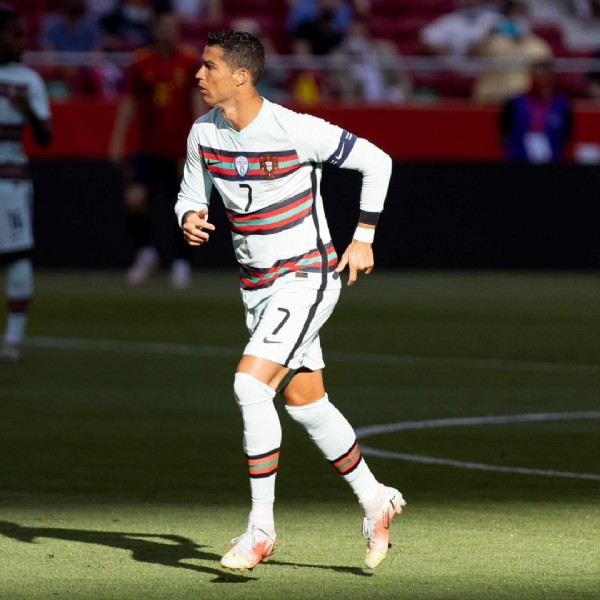 Photo shared by Cristiano Ronaldo on June 04, 2021 tagging @portugal. May be an image of 1 person.