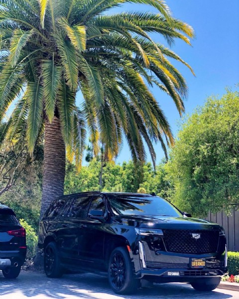 Photo shared by UrbanBCN Worldwide on June 14, 2021 tagging @cadillac. May be an image of car, palm trees and road.