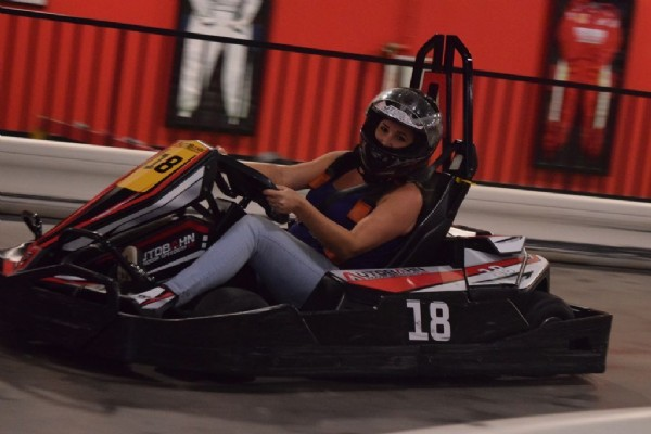 Photo by Autobahn Indoor Speedway on July 30, 2021. May be an image of 1 person.