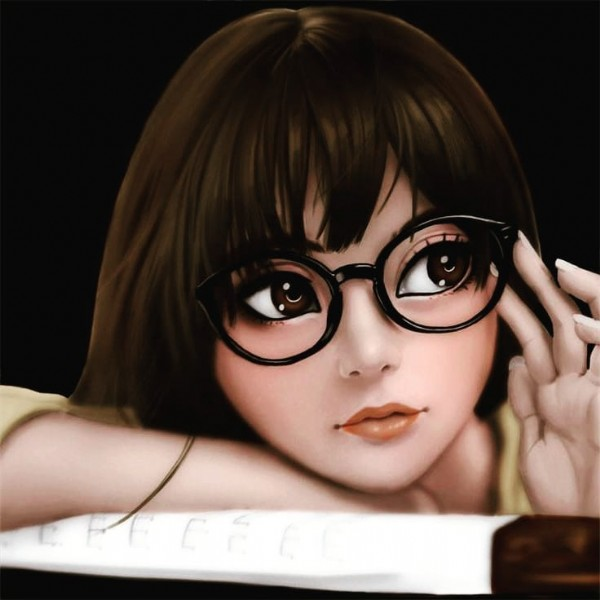 Photo by Brokenwomen on June 23, 2021. May be an anime-style image of 1 person and eyeglasses.