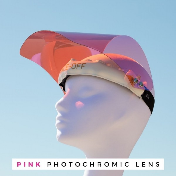 Photo by FACE-OFF on June 21, 2021. May be an image of text that says 'E-OFF PINK PHOTOCHROMIC LENS'.