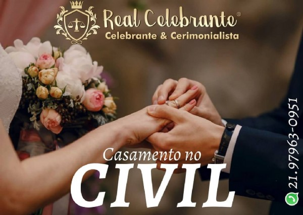 Photo by ℂℕ  30  in RealCelebrante. May be an image of one or more people, flower and text that says 'Real Colobranto Celebrante & Cerimonialista Casamento no CIVIL'.