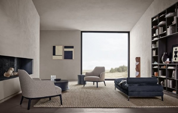 Photo by Serafini Arredo e Design in Poliform. May be an image of furniture and living room.