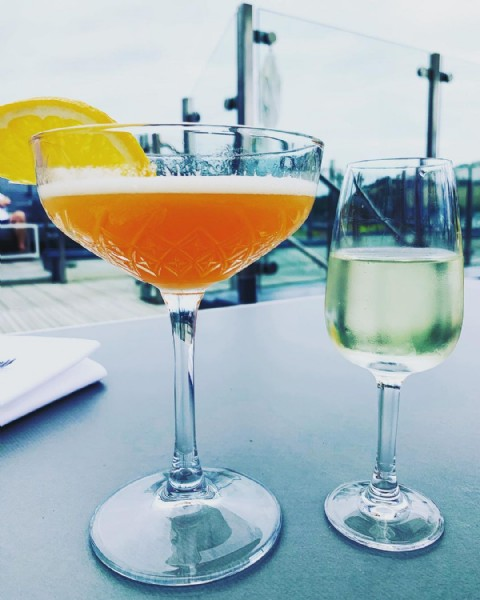 Photo by Penny in Salcombe Harbour Hotel & Spa. May be an image of drink.