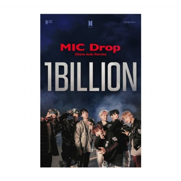 Photo by @bts.views.milestones on July 31, 2021. May be an image of text that says '1 MIC Drop Remix Steve IBILLION'.