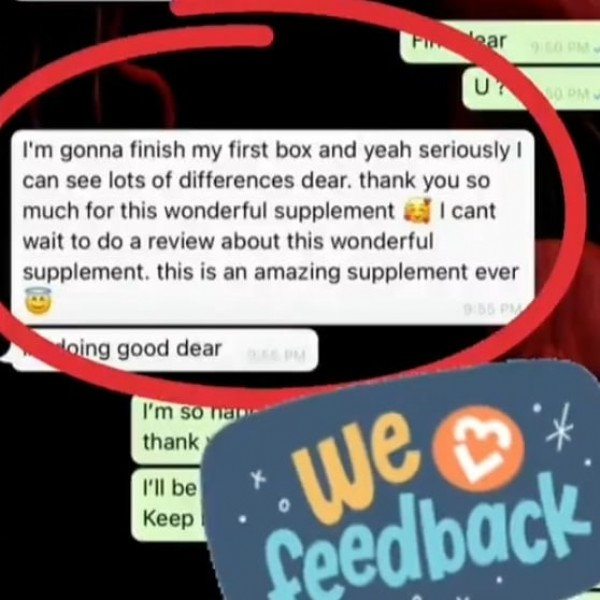 Photo by @anasaabeauty_supplement on September 22, 2021. May be an image of one or more people and text that says 'oạr 950PM U? 0PM I'm gonna finish my first box and yeah seriously can see lots of differences dear. thank you so much for this wonderful supplement cant wait to do a review about this wonderful supplement. this is an amazing supplement ever 9:86 oing good dear PM I'm So najo- Gedak thank I'll be Keep'.