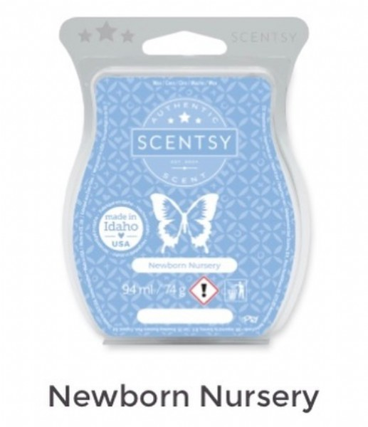Photo by @dannielles_scentsy on June 20, 2021. May be an image of text that says 'SCENTSY SCENTSY made n Idaho USA Newborn Nursery 94ml/74 Newborn Nursery'.