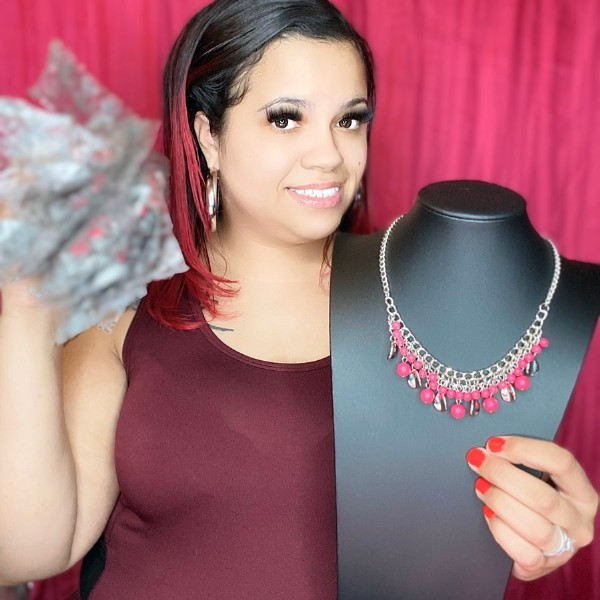 Photo by Paparazzi Accessories By Carey on July 30, 2021. May be an image of 1 person and jewelry.