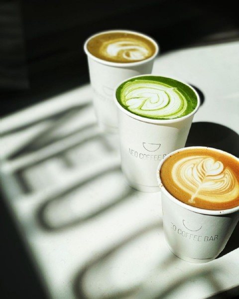 Photo shared by Aakriti on April 25, 2021 tagging @neocoffeebarto. May be an image of coffee, coffee cup and indoor.