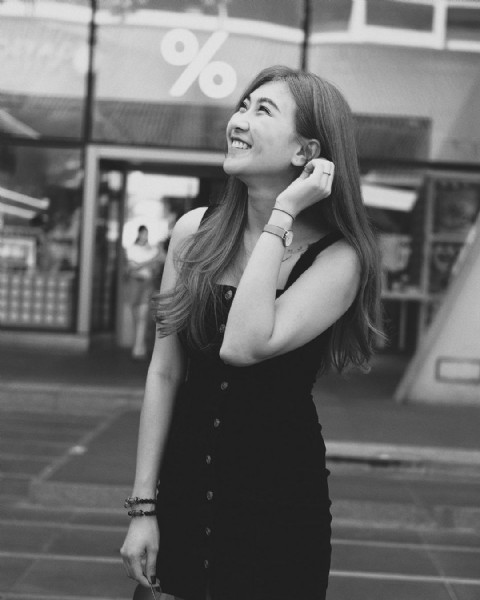 Photo shared by Air.Pornpimon on August 02, 2021 tagging @immilin, @fujifilm_xseries, @fujifilmxthai, @fujifilm_street, and @fujifilm_global. May be a black-and-white image of 1 person and standing.