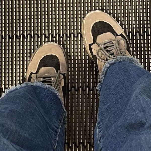 Photo shared by Tyts Mathews on August 01, 2021 tagging @lessiswore, @acozydeal, and @theminimalmoodboard. May be an image of footwear.