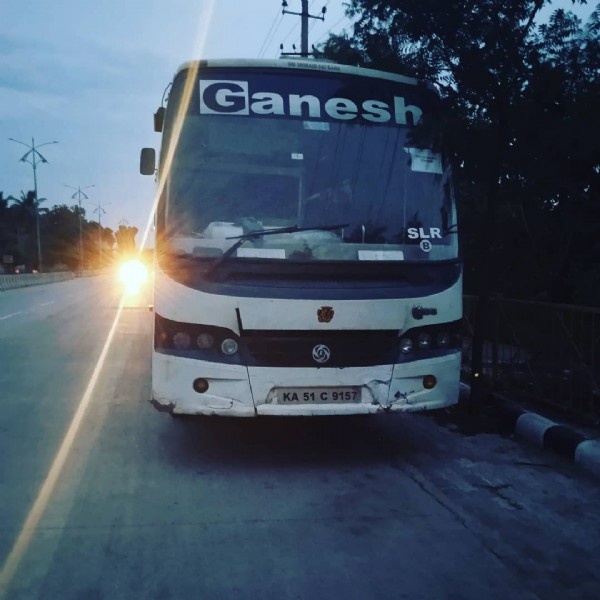 Photo by Transport World on July 27, 2021. May be an image of bus, outdoors and text that says 'Ganesh SLR'.