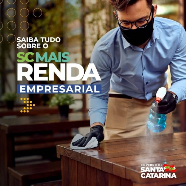 Photo shared by SANTUR on July 27, 2021 tagging @descubrasc, and @governosc. May be an image of 1 person and text that says 'SAIBA TUDO SOBRE o SCMAIS RENDA EMPRESARIAL GOVERNO DE SANTA CATARINA'.