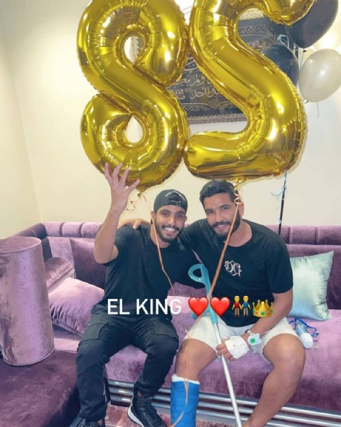 Photo shared by سـنـد صـآالـح جـمـعـه ♥ on August 01, 2021 tagging @salehgomaa, @abdelrahmangomaa10, and @salehgomaaouda. May be an image of 2 people, balloon, indoor and text.