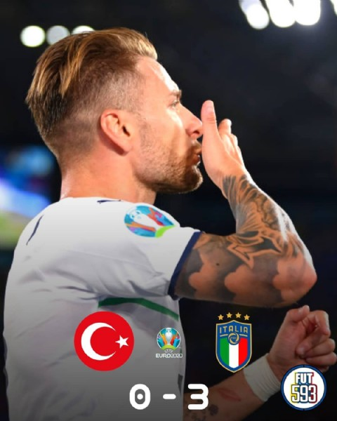 Photo shared by Fut 593 on June 11, 2021 tagging @azzurri, @euro2020, @millitakimlar, and @ciroimmobile17. May be an image of 1 person and text.