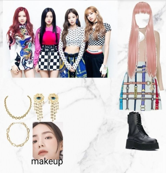 Photo shared by kpopgroupz on September 15, 2021 tagging @blackpinkofficial. May be an anime-style image of 4 people and text.