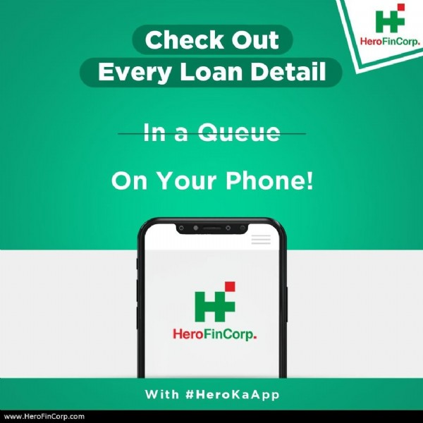 Photo by Hero FinCorp on July 07, 2020. May be an image of text that says 'H HeroFinCorp Check Out Every Loan Detail In a Queue On Your Phone! HeroFinCorp. HeroF www.HeroFinCorp.com With #HeroKaApp'.
