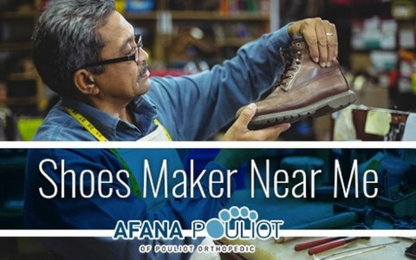 Photo by Afana Pouliot in Afana Pouliot. May be an image of boots and text that says 'Shoes Maker Near Me AFANA POULIOT OF POULIOT ORTHOPEDIG'.