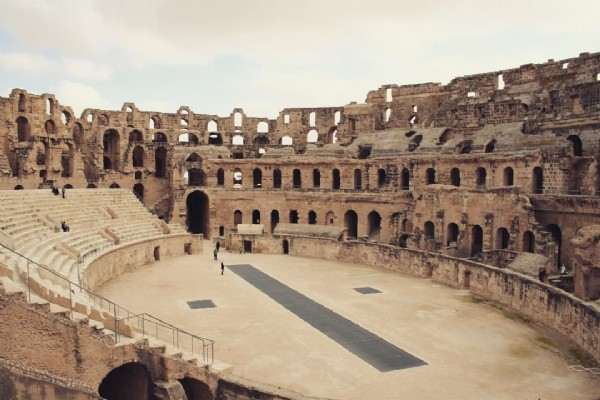 Photo by Conny|she/her|INFP-T|Ravenclaw in Amphithéâtre d'El Jem. May be an image of outdoors and monument.