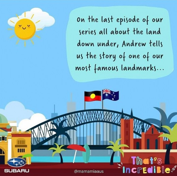 Photo by Andrew Daddo on June 18, 2021. May be an image of outdoors and text that says 'on the last episode of our series all about the land down under, Andrew tells us the story of one of our most famous landmarks... WAA SUBARU @mamamiaaus That's 'S IncrediBle'.