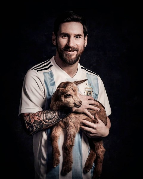 Photo by Leo Messi on June 11, 2021. May be an image of 1 person and beard.