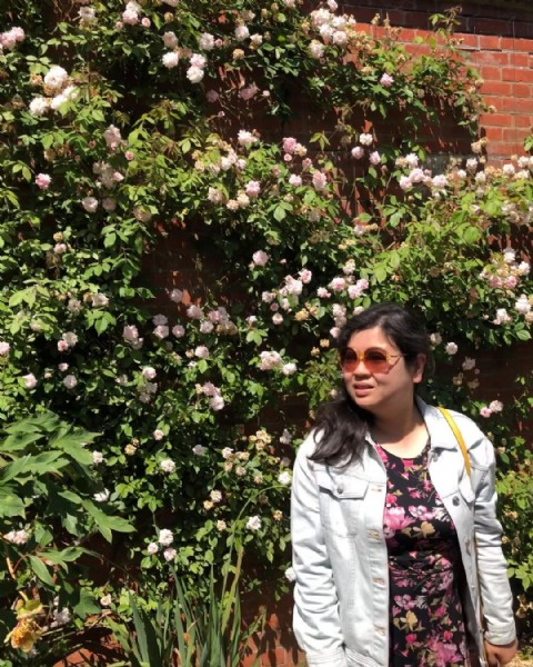 Photo by UK traveller on June 18, 2021. May be an image of 1 person, rose, tree, outdoors and brick wall.