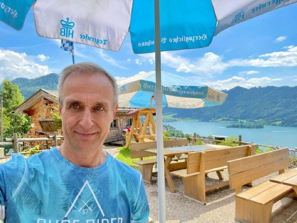 Photo by Totten in Schliersee. May be an image of 1 person and mountain.