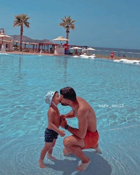 Photo by  ✯ on July 12, 2021. May be an image of child, standing, pool and text that says 'sara zsc13'.