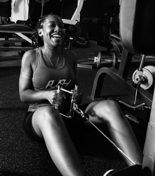 Photo shared by @push_transformation_fitness on June 19, 2021 tagging @ms.foxy_jones, @claudel_raphael_photography, and @dontewynn. May be a black-and-white image of 1 person.