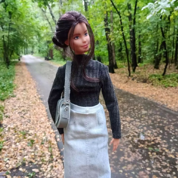 Photo by My cozy crafting☕✂️ in Fall with @barbie, @barbiestyle, @mattel, and @chikibambony_dollstore. May be an image of 1 person and outdoors.