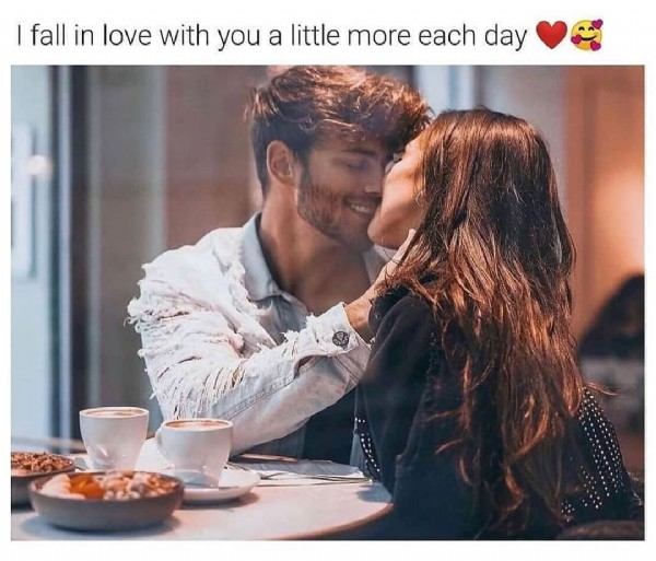 Photo by true_loverszzz on June 06, 2021. May be an image of 1 person and text that says 'I fall in love with you a little more each day'.