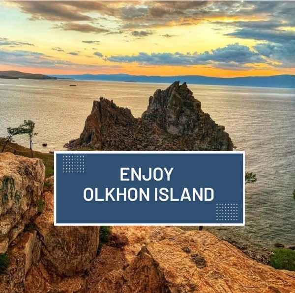 Photo by TOURS ▫️ BAIKAL in Olkhon Island. May be an image of sky and text that says 'ENJOY OLKHON ISLAND'.