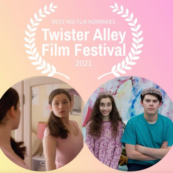 Photo by Biff & Me - Short Film on April 29, 2021. May be an image of 3 people and text that says 'BEST KID FLIX NOMINEES Twister Alley Film Festival 2021'.