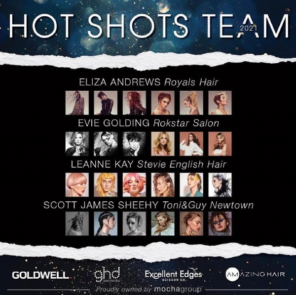 Photo by Toni&Guy Georges Hair Salon in Melbourne, Victoria, Australia with @toniandguyworld, @toniandguyau, @toniandguygeorges, @scottjameshair, @ahiaoficial_, and @australianhotshots. May be an image of 18 people and text that says 'HOT SHOTS TE TEAM 2021 ELIZA ANDREWS Royals Hair AMRAES EVIE GOLDING Rokstar Salon LEANNE KAY Stevie English Hair co6ии SCOTT JAMES SHEEHY Toni&Guy Newtown GOLDWELL Excellent Edges Proudly owred mochagroup AMAZINGHAIR HAIR'.