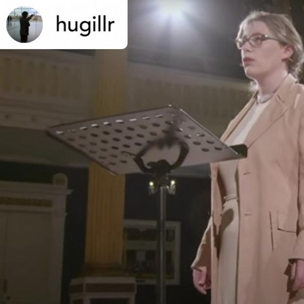 Photo shared by Divine Art Recordings Group on July 27, 2021 tagging @hugillr, and @elizabeth.hilliard.soprano. May be an image of 1 person and standing.