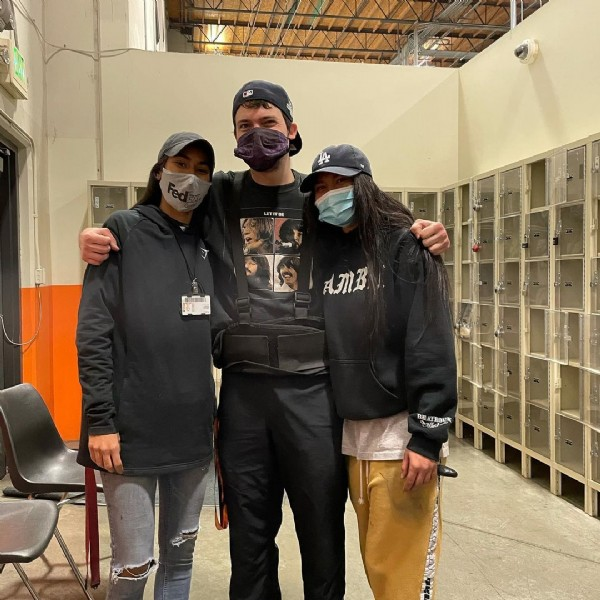 Photo shared by Corey Heins on December 06, 2020 tagging @abbyrivas_7, and @maraianlink. May be an image of 3 people, people standing and outerwear.