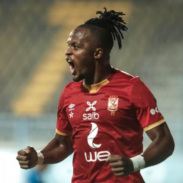 Photo shared by Al Ahly SC on July 29, 2021 tagging @walterbwalya994. May be an image of 1 person, playing a sport and text that says 'X saib we'.