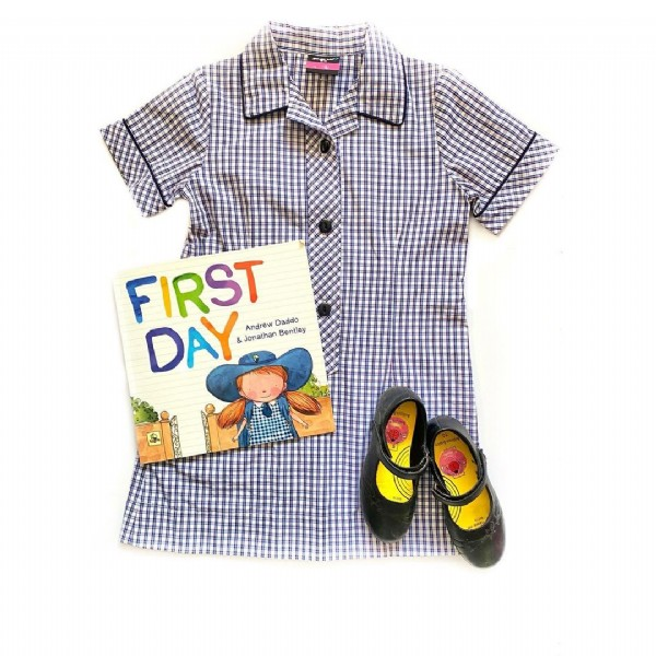 Photo shared by Bridie & Daphne (5) AUSTRALIA on March 02, 2021 tagging @andrewdaddo, @brightstarkids, @bigwaustralia, @jon__bentley, and @psw_apparel. May be an image of footwear and text that says 'FIRST Andrew Jonathan Bentley DAY & Daddo'.