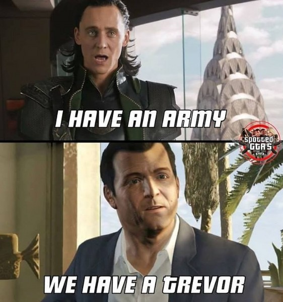 Photo by Los Santos on July 30, 2021. May be a meme of 2 people and text that says 'I HAVE AN ARMY spotted: GGA'S S WE HAVE A GREVOR'.