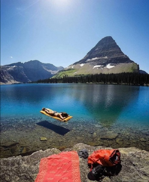 Photo by dogayageridon in Glacier National Park. May be an image of nature and lake.