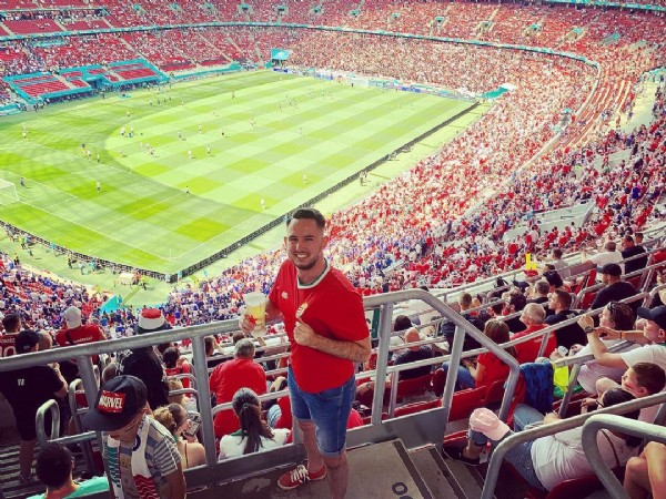 Photo by Peter Szalai in Puskás Ferenc Stadion. May be an image of 1 person and stadium.