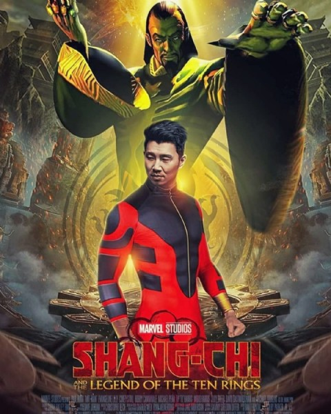 Photo by Marvel Cinema on August 02, 2021. May be an image of 1 person, standing and text that says 'MARVEL STUDIOS SHANG-CHI THE AND LEGEND OF THE TEN RINGS'.