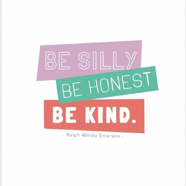 Photo by Summit Youth Sports on June 14, 2021. May be an image of text that says 'BE SILLY BE HONEST BE KIND. -Ralph Waldo Emerson'.