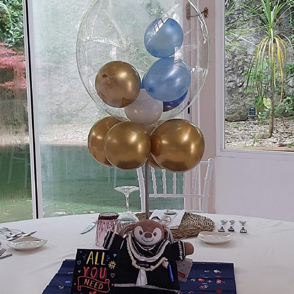 Photo by Hotel San Roman de Escalante on June 04, 2021. May be an image of balloon, cake, indoor and text that says 'ALL'.