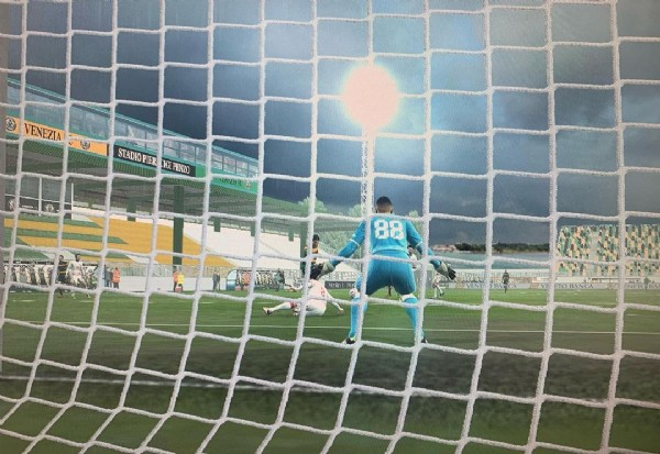 Photo shared by Vintage_PesArt on June 19, 2021 tagging @konami, @officialpes, @veneziafc, @serie.bkt, @stadiopenzo, and @seriea. May be an image of outdoors.