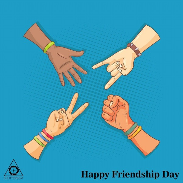 Photo by ShutterBeat Media on July 31, 2021. May be an image of text that says '心 SHUTTERBEAT Happy Friendship Day'.