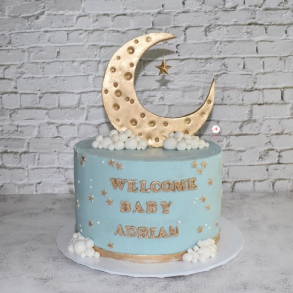Photo shared by JBakes on June 20, 2021 tagging @hersheys, @ghirardelli, @satin.ice, @agbayproducts, @decopac, @americolor, @celebakes.by.ck, @renshawamericas, @chefmaster, and @confectioneryarts. May be an image of cake, brick wall and text that says 'WELCOME BABY ADRIAN'.