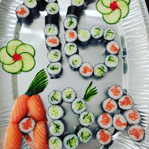 Photo by Sushi Shikigami on June 06, 2021. May be an image of 1 person and sushi.