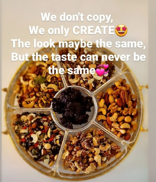 Photo by Nuttilicious on July 29, 2021. May be an image of food and text that says 'We don't copy, We only CREATE The look maybe the same, But the taste can never be the same'.