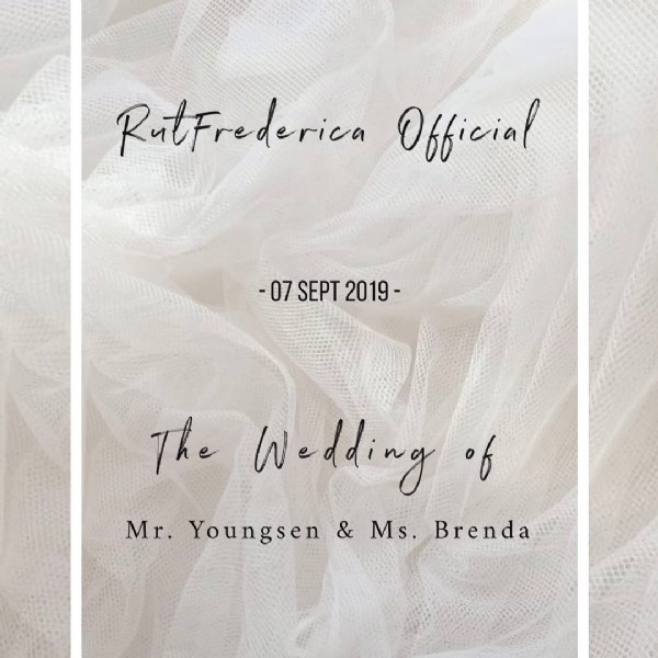 Photo by Bridal MakeUp Artist Certified on March 15, 2021. May be an image of text that says 'RutFrederica Official -07 SEPT 2019- The Weddingof Mr. Youngsen & Ms. Brenda'.